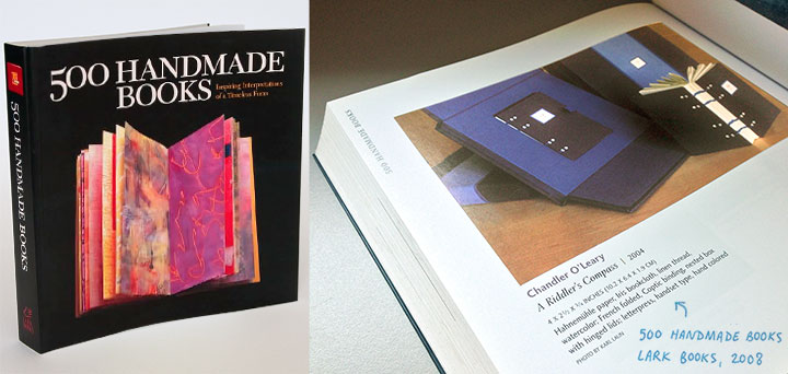 "Feature on ""A Riddler's Compass"" by Chandler O'Leary in ""500 Handmade Books, Vol 1"""