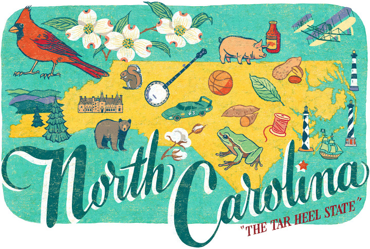 North Carolina illustration by Chandler O'Leary