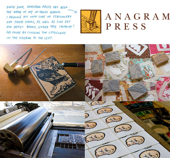 Anagram Press is an in-house brand of stationery goods and fine art by Chandler O'Leary