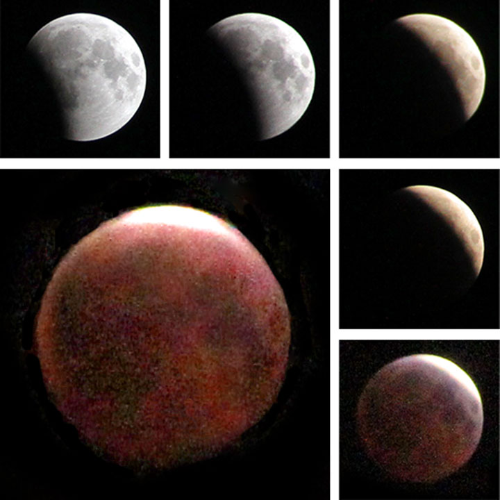 Lunar eclipse photos by Chandler O'Leary