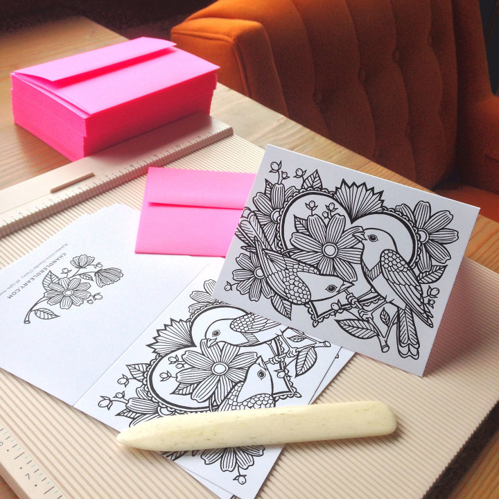 Coloring cards by Chandler O'Leary