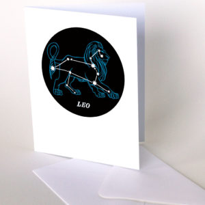 Constellation greeting card by Chandler O'Leary