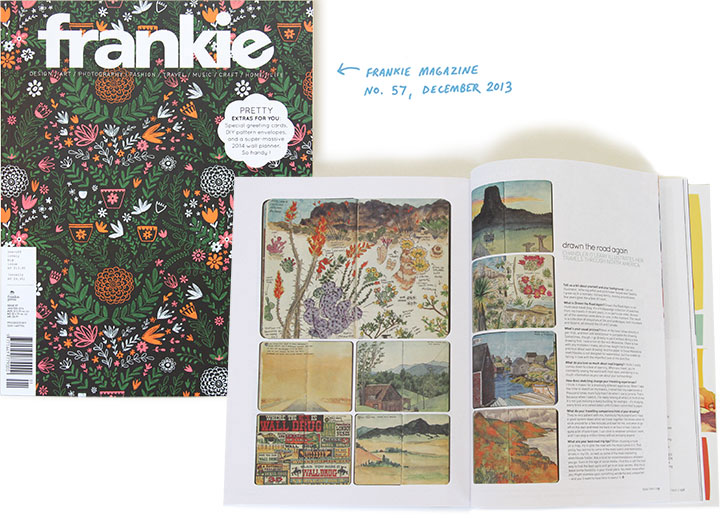 "Feature on ""Drawn the Road Again"" by Chandler O'Leary in ""Frankie"" magazine"