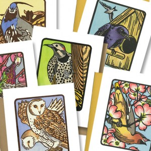 """Flock"" bird cards"