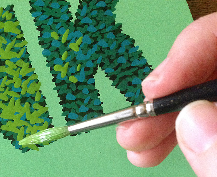 """Process detail of hand-lettered """"Hedge"""" alphabet by Chandler O'Leary"""