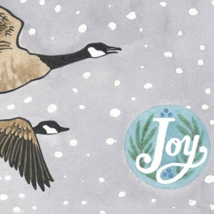 Geese holiday card
