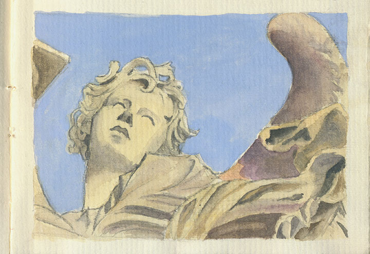 Rome, Italy sketchbook drawing by Chandler O'Leary