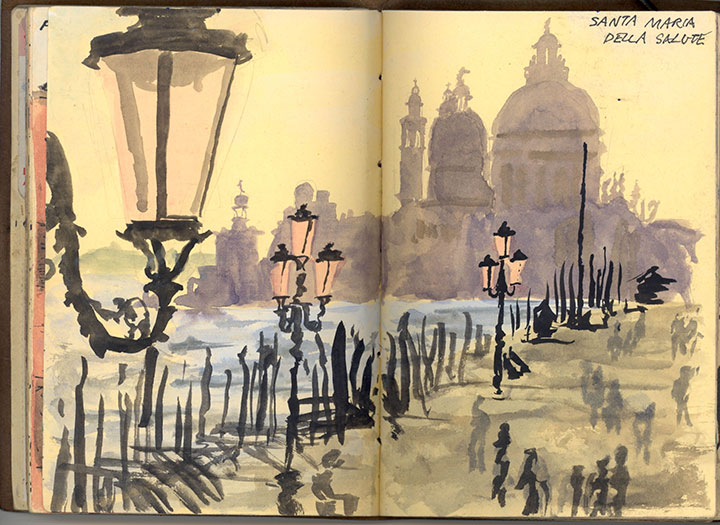 Venice, Italy sketchbook drawing by Chandler O'Leary