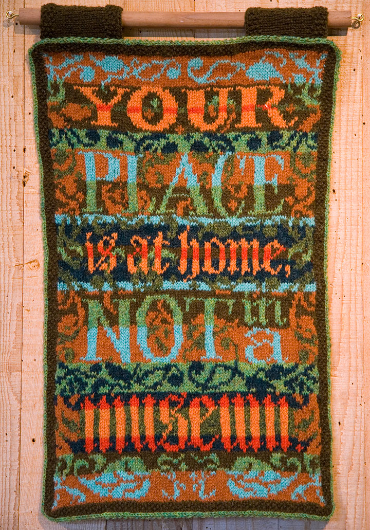 """""""Museum Quality"""" hand-knitted textile broadside by Chandler O'Leary"""