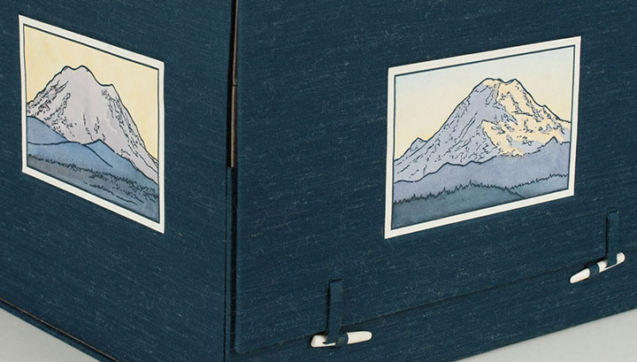 """Local Conditions"" artist book about Mt. Rainier by Chandler O'Leary"