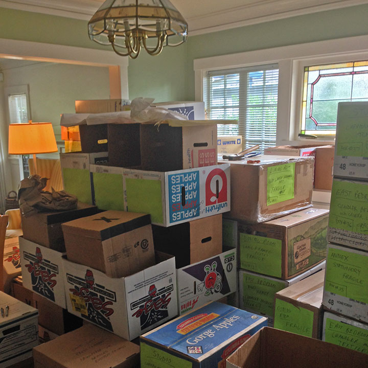 Moving boxes photo by Chandler O'Leary