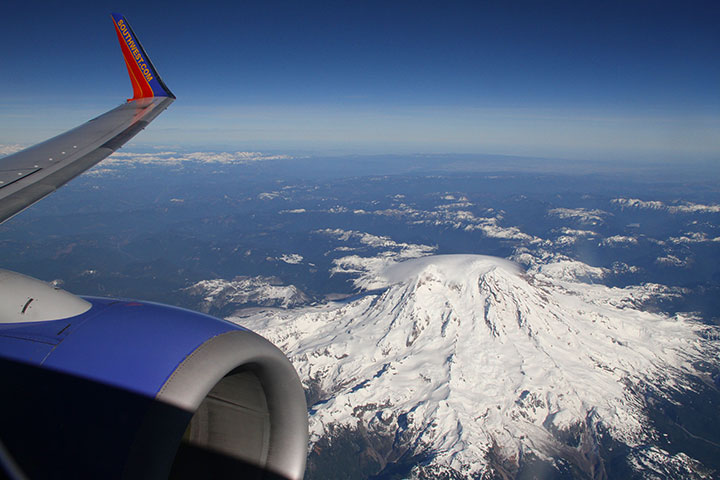 Mt. Rainier aerial photo by Chandler O'Leary
