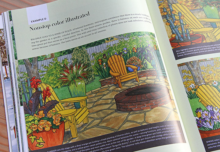 """Nonstop Color Garden"" book, featuring illustrations by Chandler O'Leary"