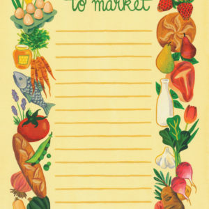 To Market notepad illustrated and hand-lettered by Chandler O'Leary