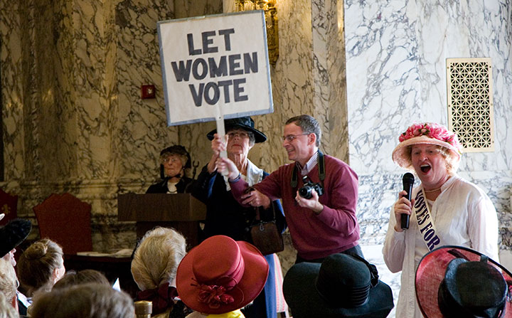 Washington state women's suffrage centennial photo by Chandler O'Leary