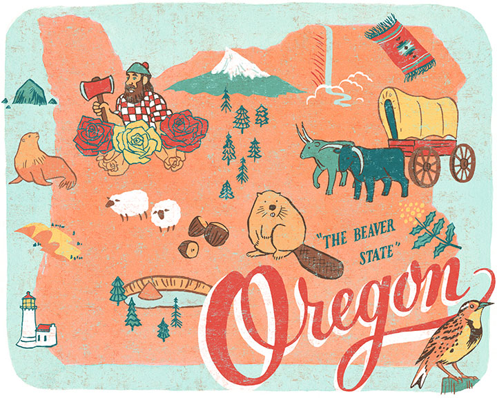Oregon State illustration by Chandler O'Leary