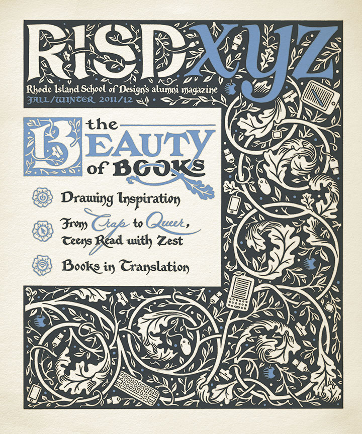 "Cover for ""RISDXYZ"" magazine illustrated by Chandler O'Leary"