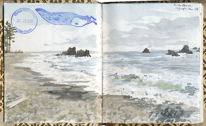 Ruby Beach sketch by Chandler O'Leary