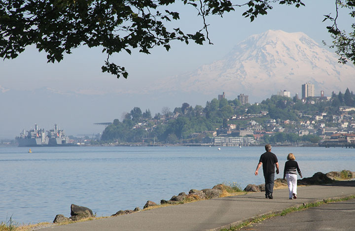 Tacoma and Mt. Rainier photo by Chandler O'Leary