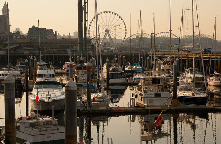 Seattle waterfront photo by Chandler O'Leary