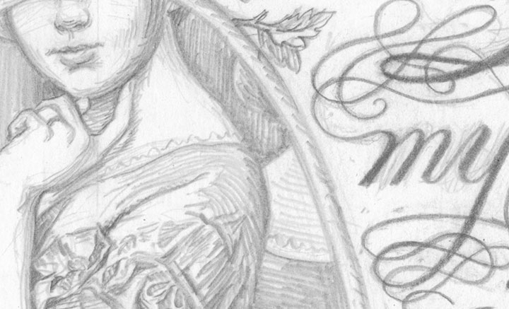 """Detail of """"Signed, Sealed, Soapbox"""" process illustration by Chandler O'Leary"""
