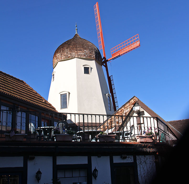 Solvang windmill photo by Chandler O'Leary