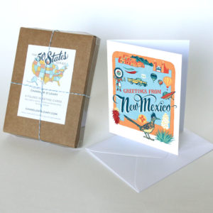 New Mexico card from the 50 States series illustrated and hand-lettered by Chandler O'Leary