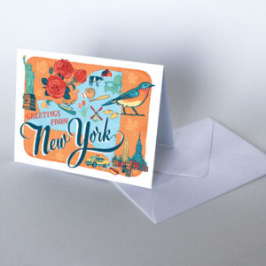 New York card from the 50 States series illustrated and hand-lettered by Chandler O'Leary