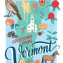 Vermont card from the 50 States series illustrated and hand-lettered by Chandler O'Leary