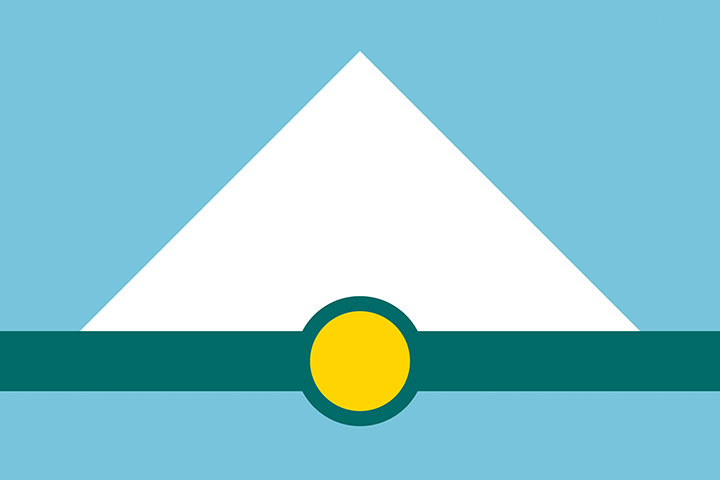 Proposed flag design for the city of Tacoma, WA, designed by Chandler O'Leary