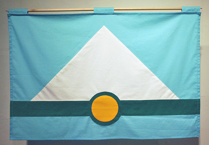 Mockup of proposed flag design for the city of Tacoma, WA, designed by Chandler O'Leary