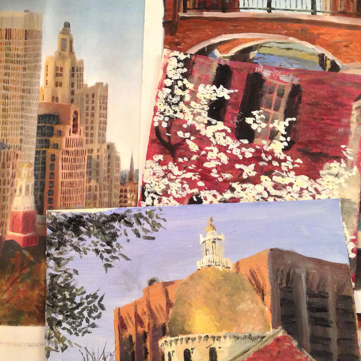 Providence and Boston paintings by Chandler O'Leary