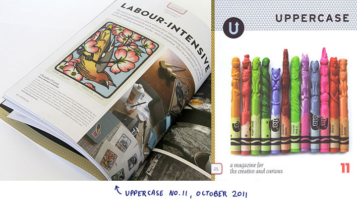"""Illustrations by Chandler O'Leary in """"Uppercase"""" magazine"""
