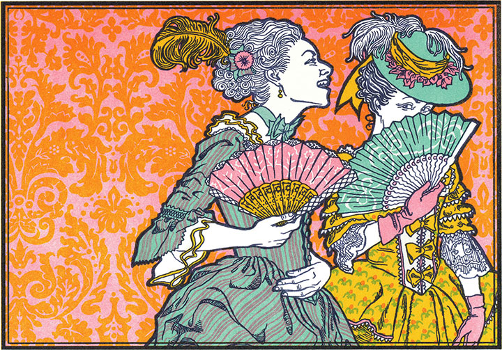 """Versailles Gossip"" letterpress print by Chandler O'Leary"