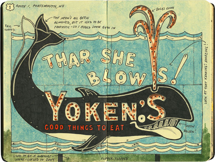 Yoken's sign sketch by Chandler O'Leary