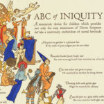"""ABC of Iniquity"" letterpress broadside by Chandler O'Leary"
