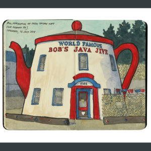 Bob's Java Jive sketchbook print by Chandler O'Leary