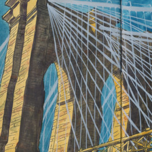 Brooklyn Bridge sketchbook print by Chandler O'Leary