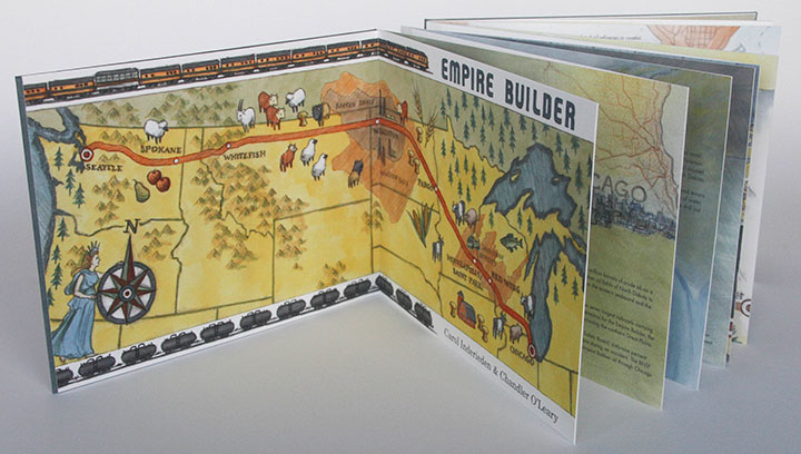 """Empire Builder"" artist book by Chandler O'Leary and Carol Inderieden"