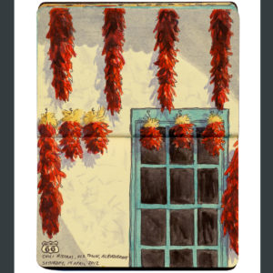 Albuquerque chili ristras sketchbook print by Chandler O'Leary