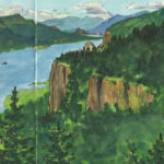 Columbia River Gorge sketchbook print by Chandler O'Leary