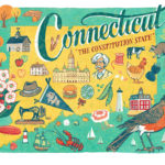 Detail of Connecticut illustration by Chandler O'Leary
