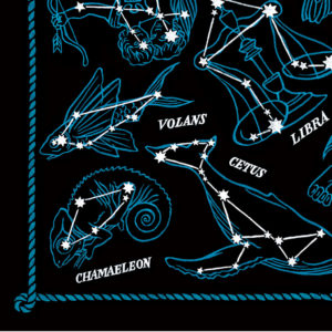Detail of Constellations print by Chandler O'Leary