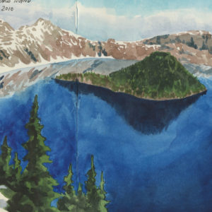 Crater Lake sketchbook print by Chandler O'Leary