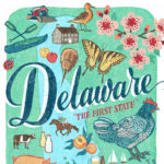 Detail of Delaware illustration by Chandler O'Leary
