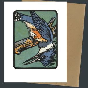Belted Kingfisher card by Chandler O'Leary