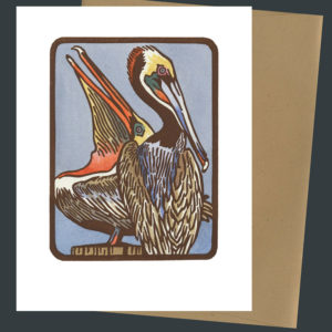 Brown Pelican card by Chandler O'Leary