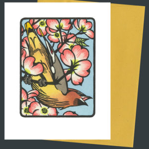 Cedar Waxwing card by Chandler O'Leary