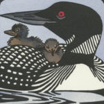 Detail of Common Loon card by Chandler O'Leary