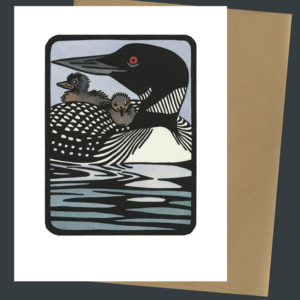 Common Loon card by Chandler O'Leary